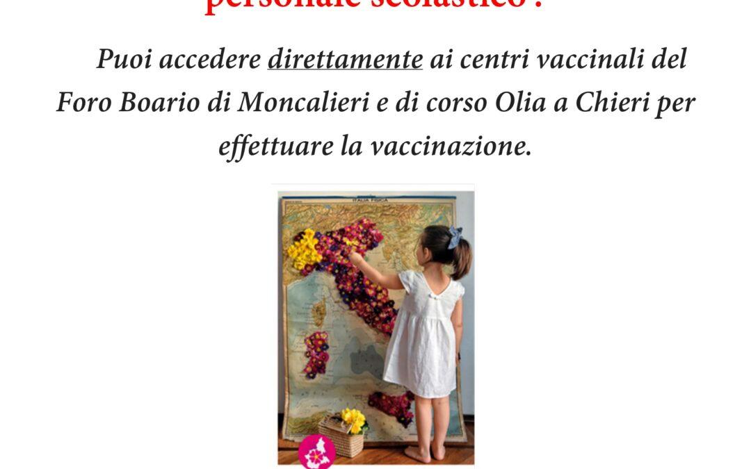 vaccinazioni per docenti e personale scolastico