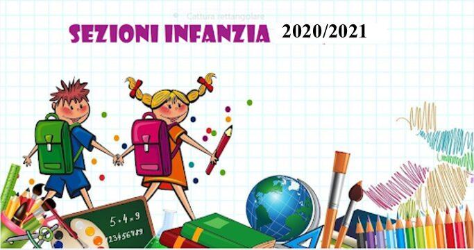 NUOVI ISCRITTI ALUNNI SEZIONI DELL'INFANZIA + CORREDO SCOLASTICO A.S. 2020_2021