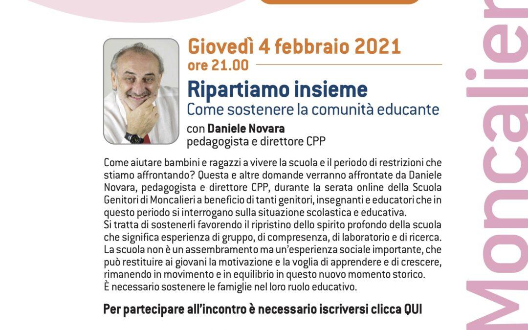 RIPARTIAMO INSIEME. COME SOSTENERE LA COMUNITA' EDUCANTE