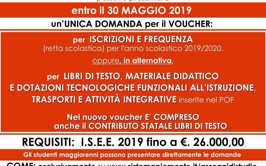Voucher scuola regione piemonte 2019-2020